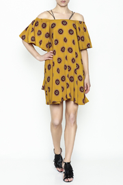 Fashion Pickle Yellow Cold Shoulder Dress - Side cropped