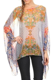 fashion 123 Bohemian Pattern Poncho - Front cropped