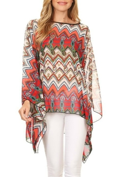 fashion 123 Chevron Print Poncho - Product List Image