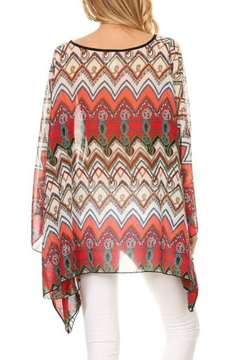 fashion 123 Chevron Print Poncho - Alternate List Image