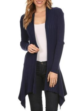fashion 123 Navy Assymetrical Cardigan - Alternate List Image