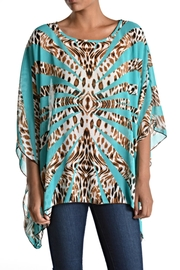 fashion 123 Silky Pattern Poncho Top - Product Mini Image