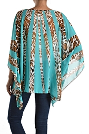 fashion 123 Silky Pattern Poncho Top - Front full body
