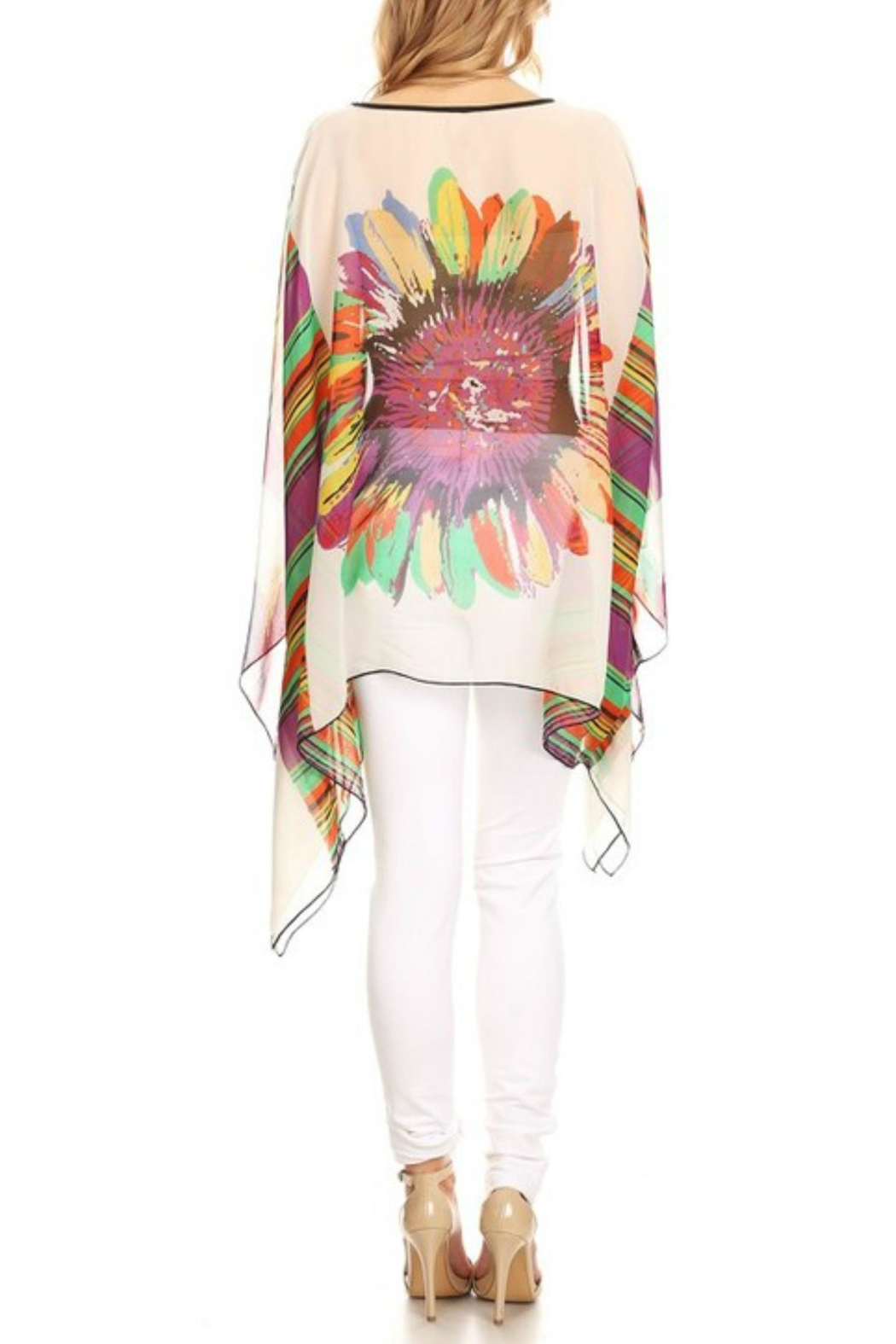 fashion 123 Superflower Power Poncho - Front Full Image