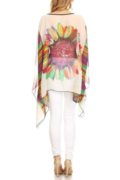 fashion 123 Superflower Power Poncho - Alternate List Image