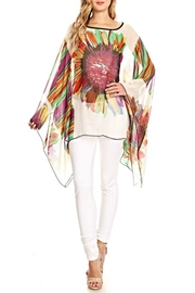 fashion 123 Superflower Power Poncho - Front cropped
