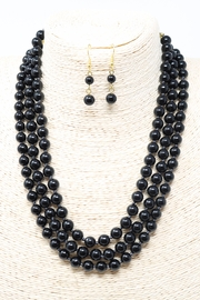 Fashion Bella Abbey Onyx Necklace-Set - Product Mini Image