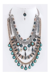 Fashion Bella Antique Tiered Necklace-Set - Product Mini Image