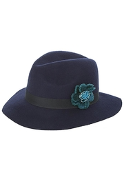 Fashion Bella Beaded Floral Hat - Front cropped