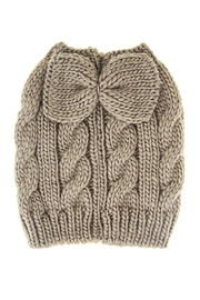 Fashion Bella Bow Accent Knit-Beanie - Product Mini Image