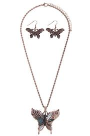 Fashion Bella Butterfly Necklace Set - Product Mini Image