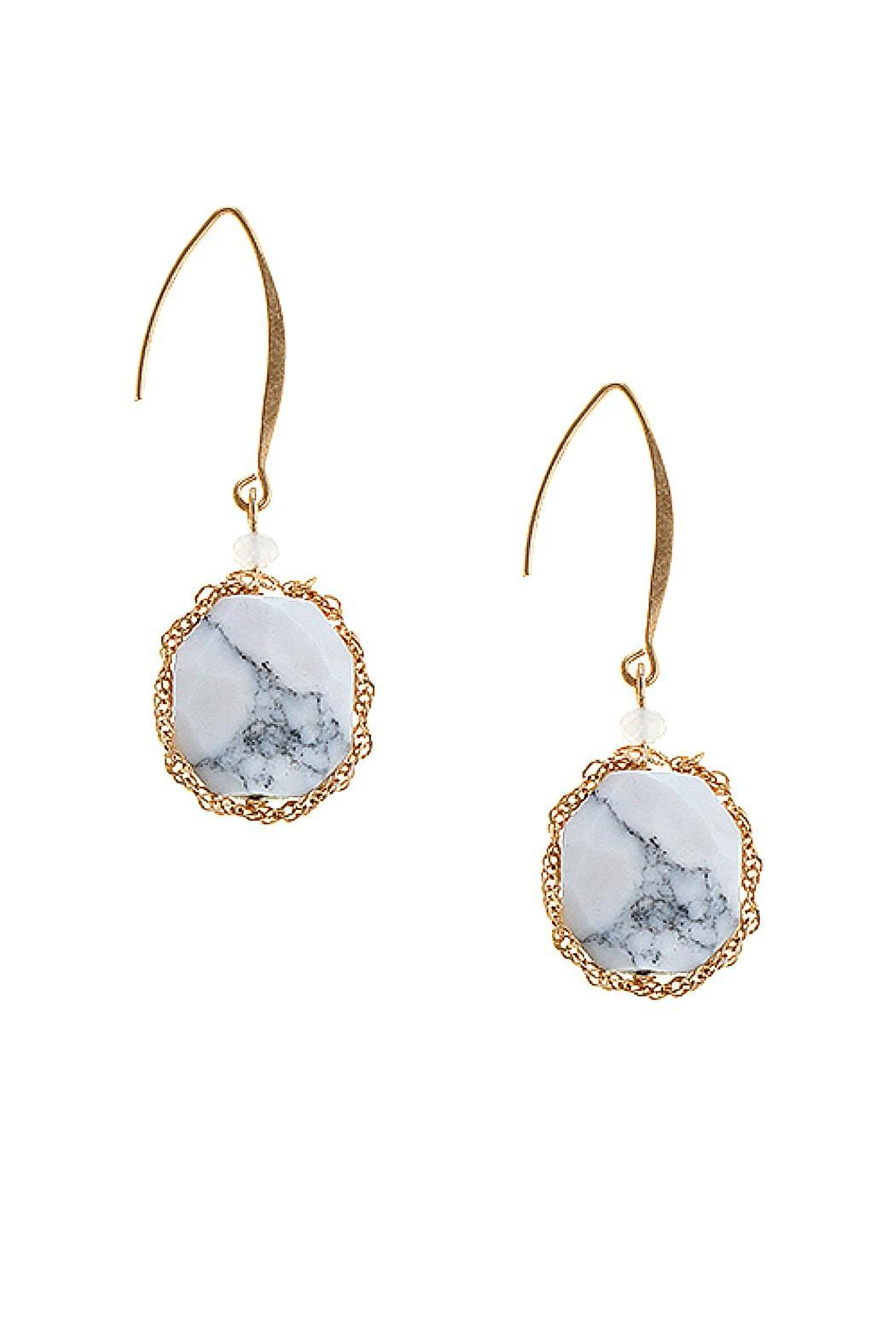 Fashion Bella Chain Precious Stone Earrings - Main Image