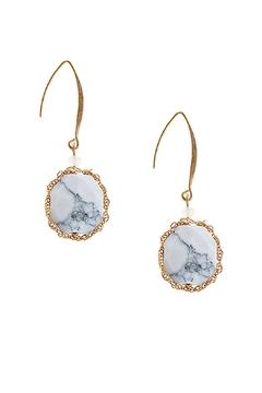 Shoptiques Product: Chain Precious Stone Earrings