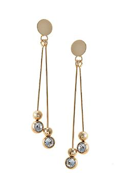 Shoptiques Product: Crystal Accent Bar Earrings