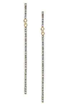Shoptiques Product: Crystal Bar Earrings