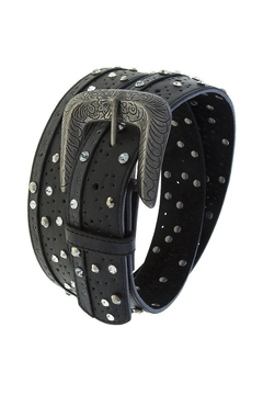 Shoptiques Product: Crystal Dotted Leather-Belt