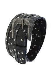 Fashion Bella Crystal Dotted Leather-Belt - Front cropped
