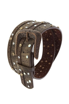 Fashion Bella Crystal Dotted Leather-Belt - Product List Image