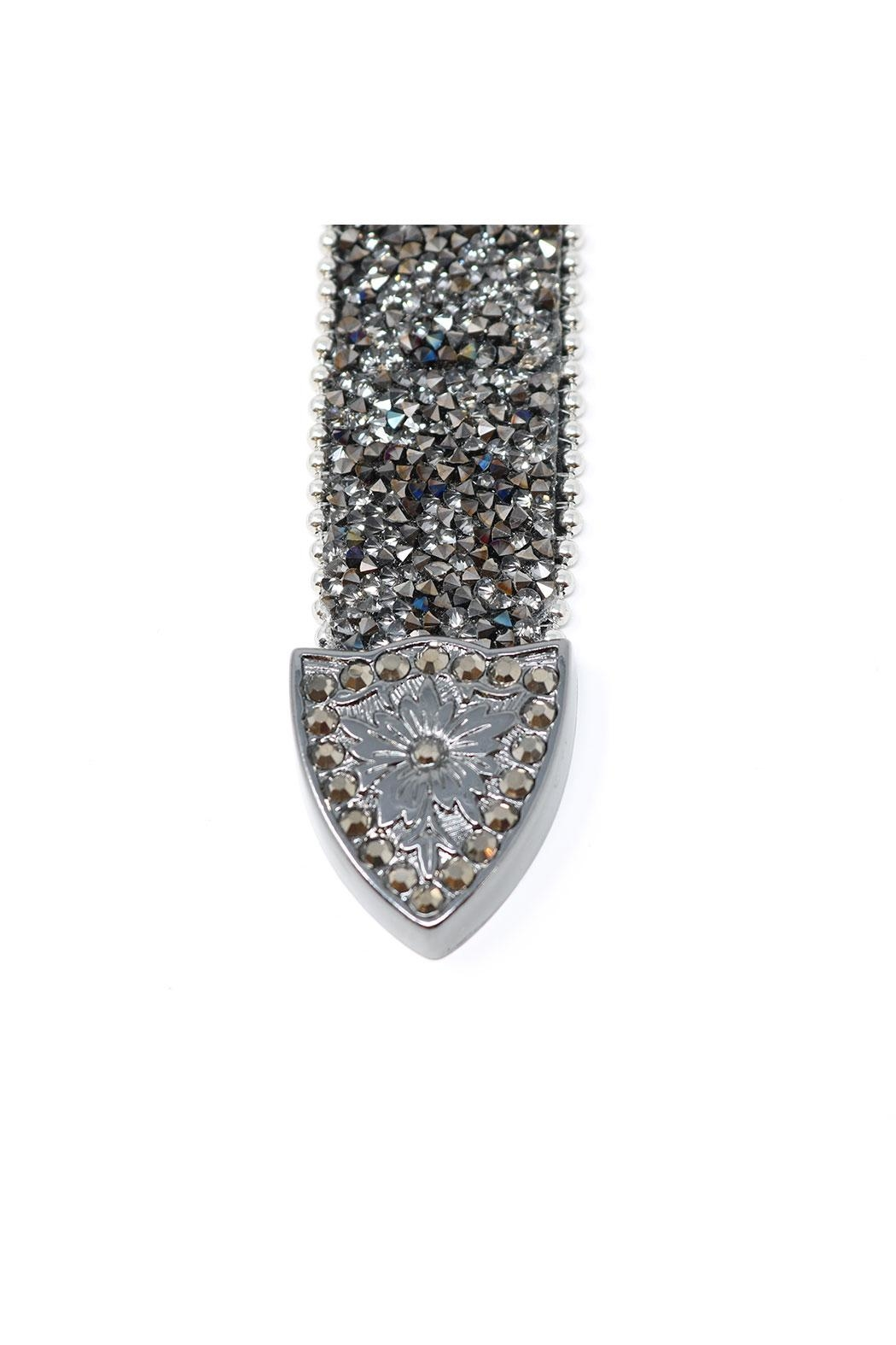 Fashion Bella Crystal Encrusted Leather-Belt - Back Cropped Image