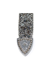 Fashion Bella Crystal Encrusted Leather-Belt - Back cropped