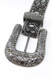 Fashion Bella Crystal Encrusted Leather-Belt - Other
