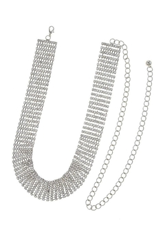 Shoptiques Product: Crystal Lined Chain-Belt