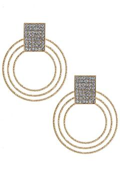 Shoptiques Product: Crystal Muti Hoop Earrings