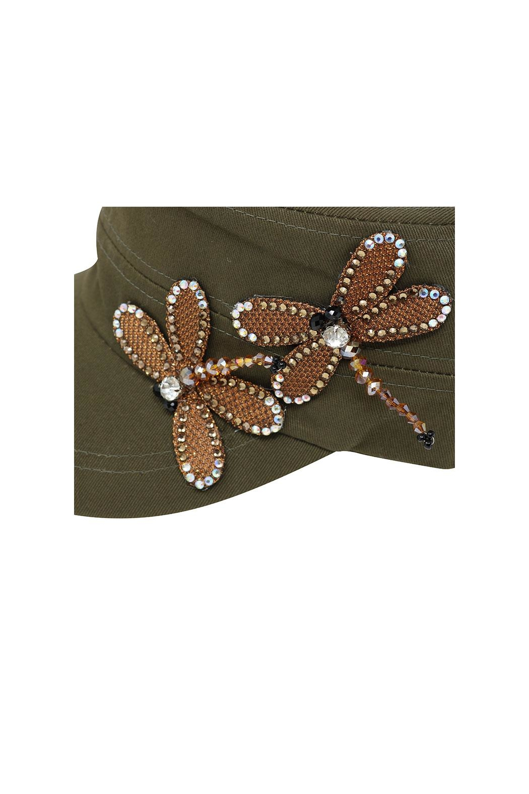 Fashion Bella Dragonfly Accent Cap - Side Cropped Image