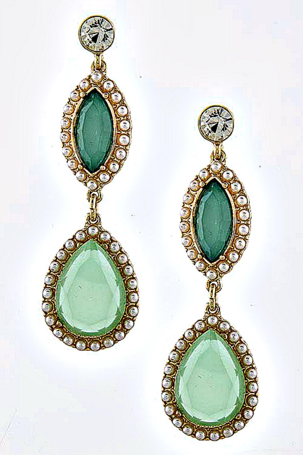 Fashion Bella Drop Pearl Earrings - Front Cropped Image