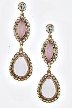 Fashion Bella Drop Pearl Earrings - Product List Image