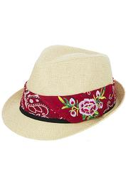 Fashion Bella Floral Bandana Fedora - Product Mini Image