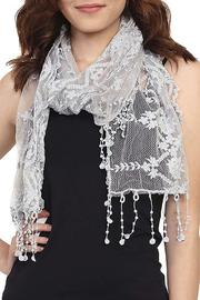 Fashion Bella Floral Lace Scarf - Product Mini Image