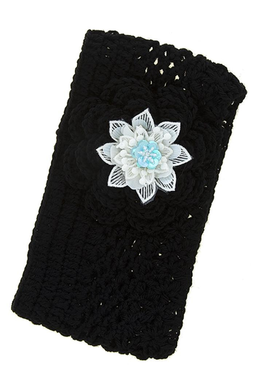 Fashion Bella Flower Knit Neck-Warmer - Main Image