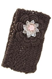 Fashion Bella Flower Knit Neck-Warmer - Front cropped
