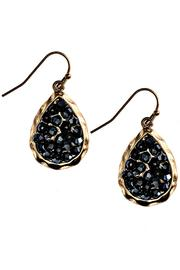 Fashion Bella Hematitie Crystal Teardrop Earrings - Product Mini Image