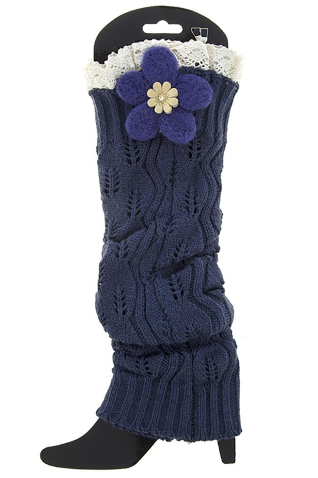 Fashion Bella Knit Leg Warmers - Front Cropped Image