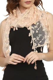 Fashion Bella Lace Floral Scarf - Product Mini Image