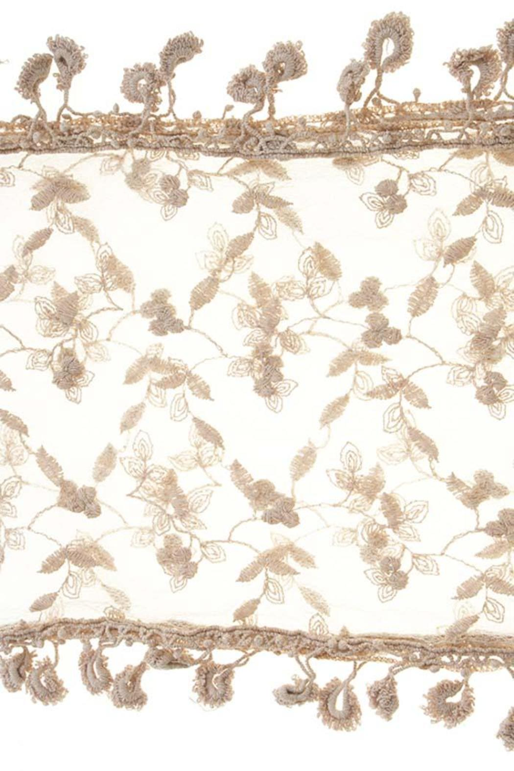 Fashion Bella Lace Floral Scarf - Side Cropped Image