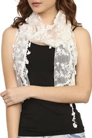 Fashion Bella Lace Floral Scarf - Front cropped