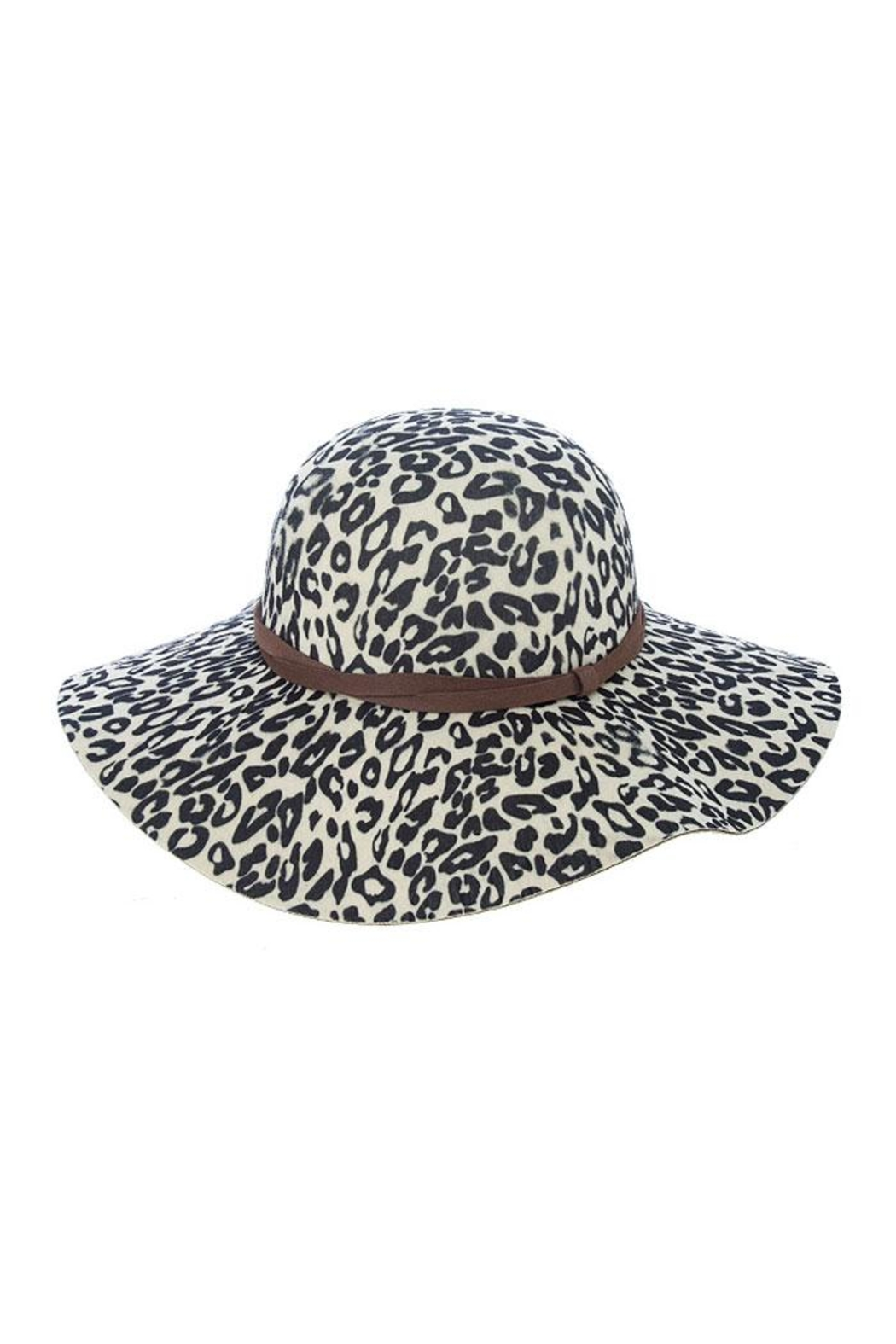 Fashion Bella Leopard Floppy Hat - Front Cropped Image