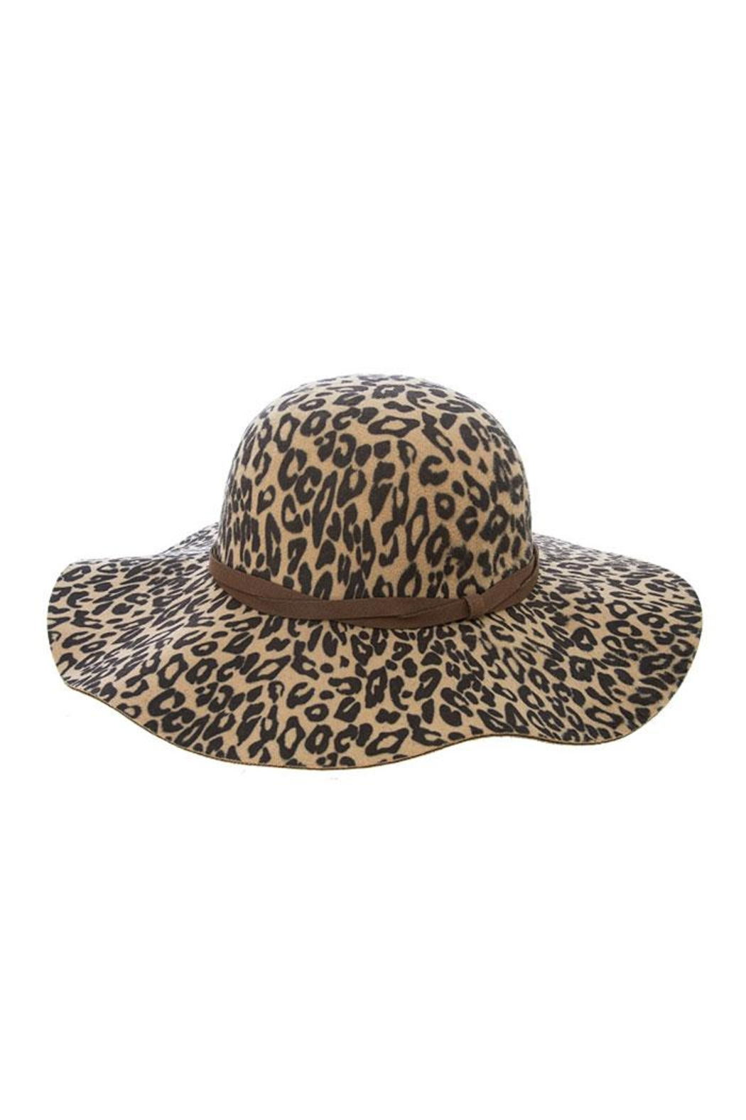 Fashion Bella Leopard Floppy Hat - Main Image