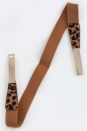 Fashion Bella Leopard Stretch Belt - Front cropped