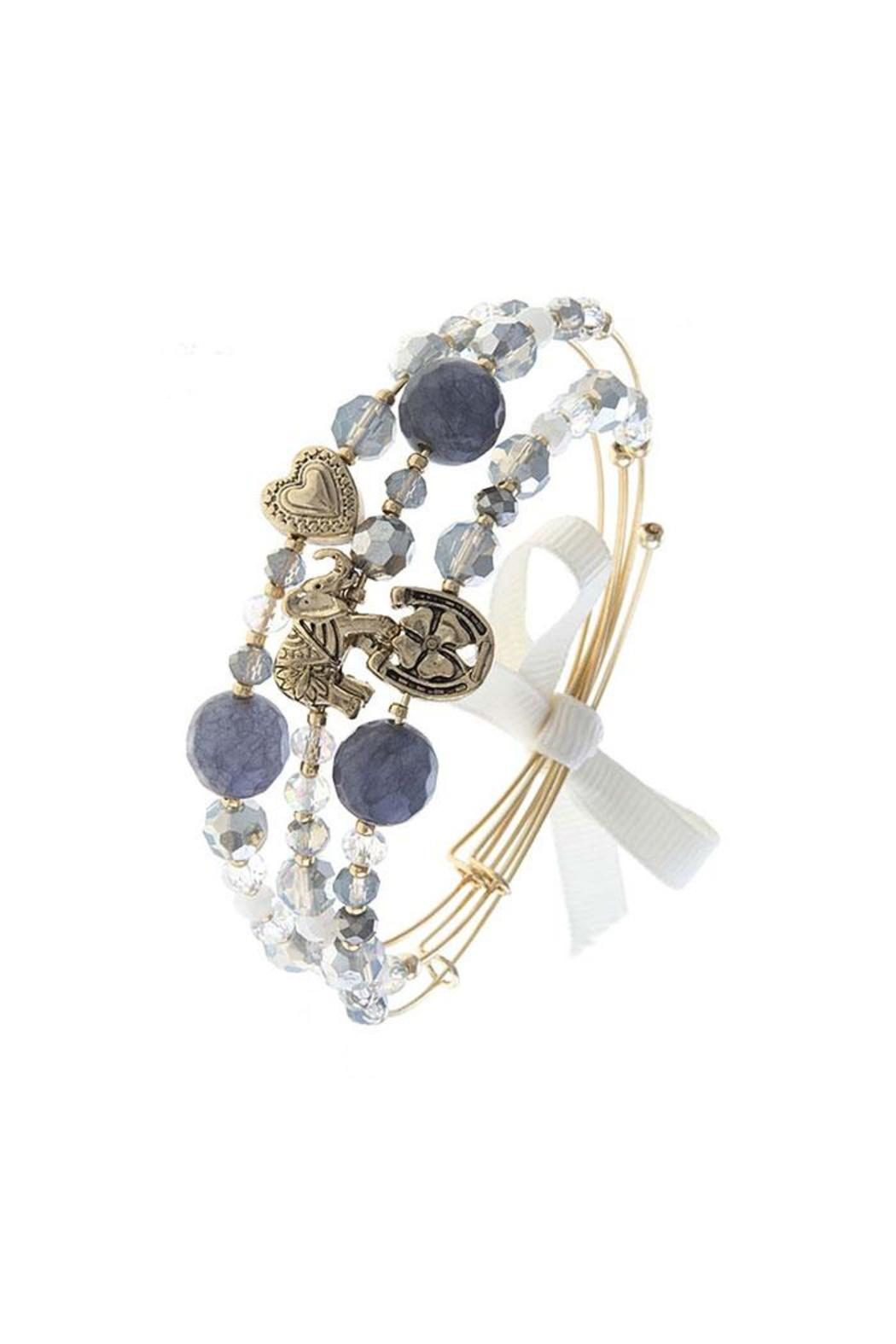 Fashion Bella Lucky Charm Bracelet - Front Cropped Image