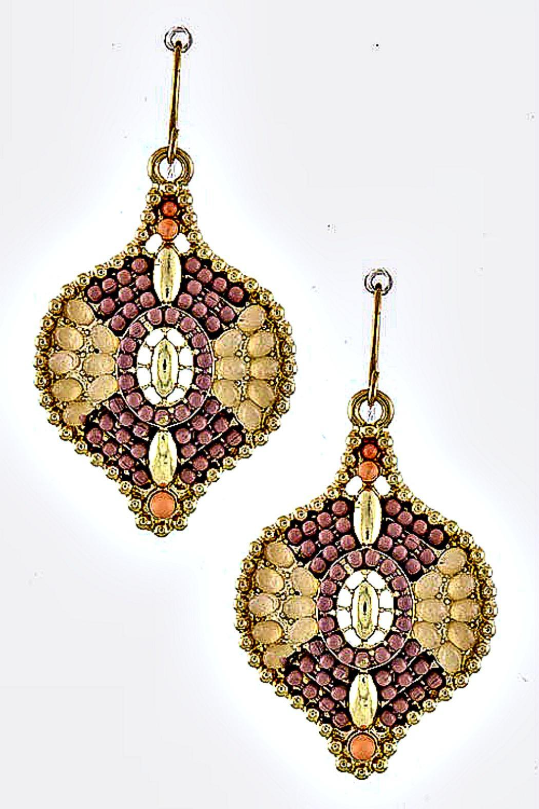 Fashion Bella Multicolor Beaded Earrings - Front Cropped Image