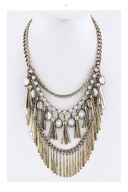 Fashion Bella Oval Rhinestone Necklace-Set - Product Mini Image