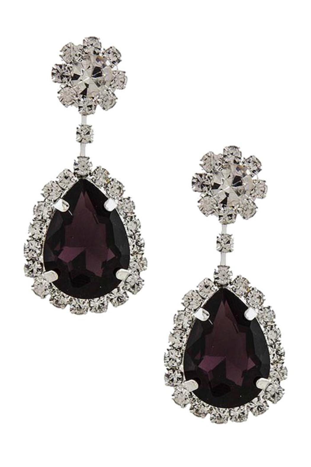 Fashion Bella Crystal Drop Earrings - Front Full Image