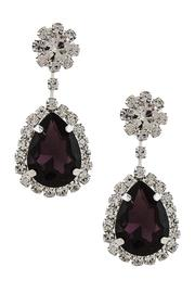 Fashion Bella Crystal Drop Earrings - Front full body
