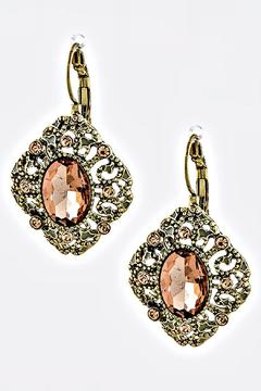 Fashion Bella Pink-Crystal Vintage Earrings - Product List Image