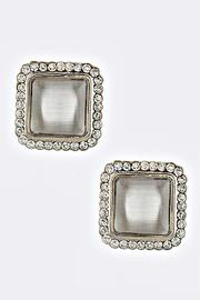 Fashion Bella Square Acrylic Stud Earrings - Front cropped