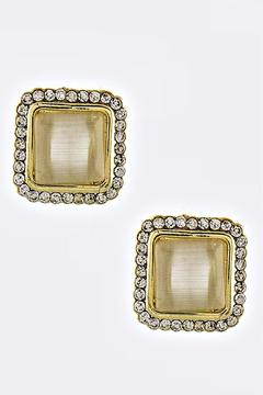 Shoptiques Product: Square Acrylic Stud Earrings
